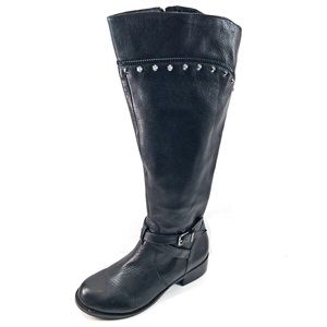 Gianni Bini Black Leather Riding Boots